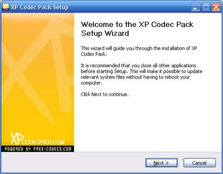XP Codec Pack